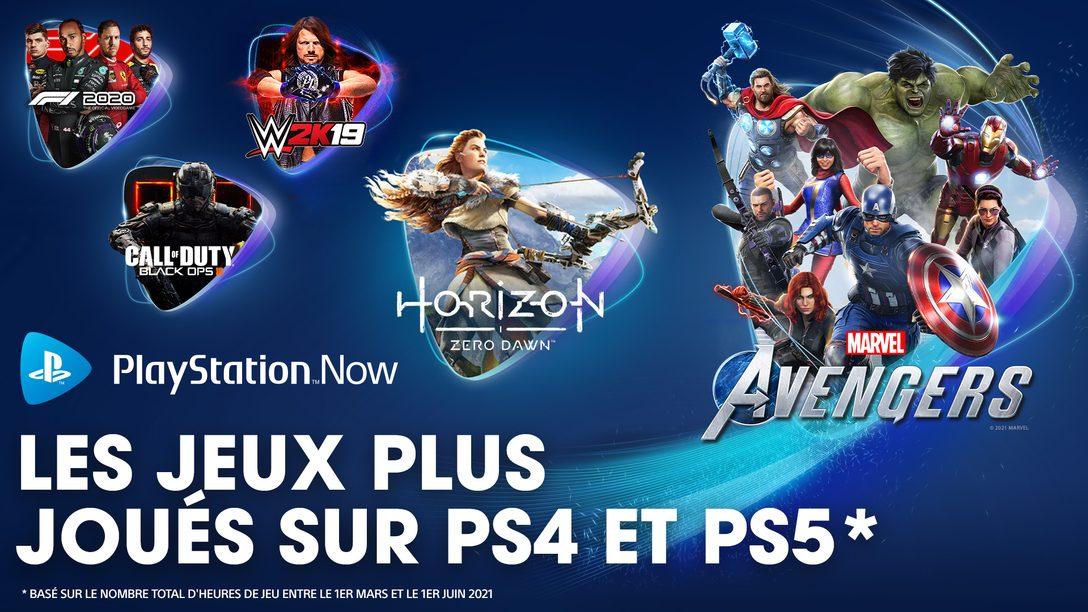 PlayStation Now : les jeux les plus joués au printemps