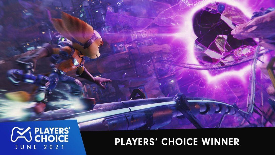 Choix des joueurs : Ratchet & Clank: Rift Apart élu Meilleur jeu du mois de juin 2021