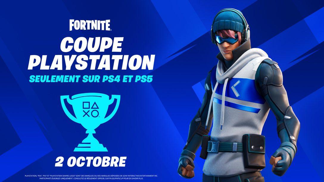 Participez à la Fortnite PlayStation Cup et tentez de remporter une partie de la récompense totale de 110 000 $